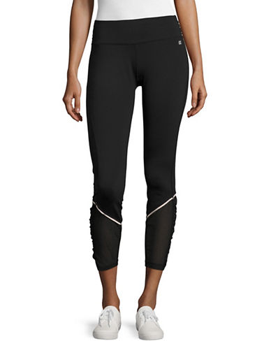 Ivanka Trump Performance Mesh-Detail Capris-BLACK-Medium 89138868_BLACK_Medium