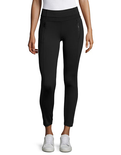 Ivanka Trump Zip Pocket Ponte Leggings-BLACK-Small 89139022_BLACK_Small