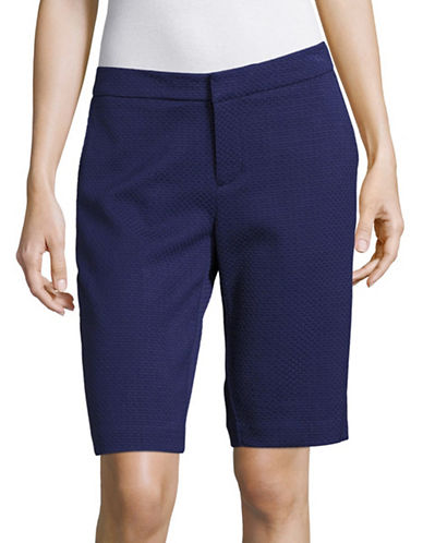 G.H. Bass & Co. Textured Jacquard Shorts-NAVY-4