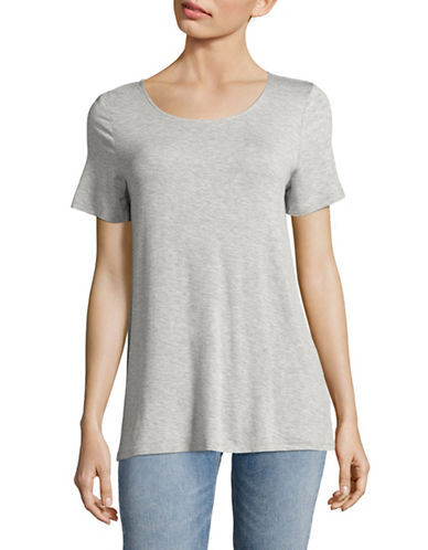 G.H. Bass & Co. Lace-Up Back Top-HEATHER GREY-Large