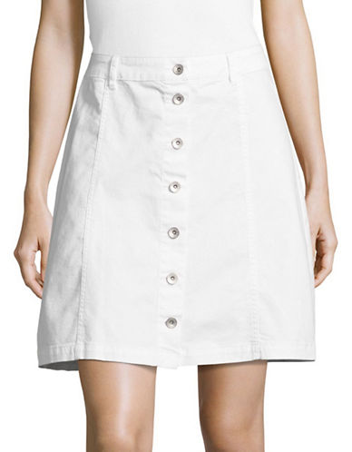 G.H. Bass & Co. Button Chino Skirt-WHITE-12