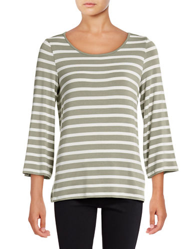 G.H. Bass & Co. Stripe Top-GREEN-X-Small 88992918_GREEN_X-Small