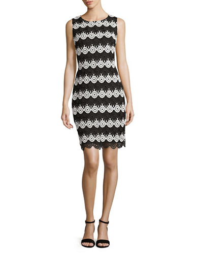 Tommy Hilfiger Circular Lace Shift Dress-MULTI-12