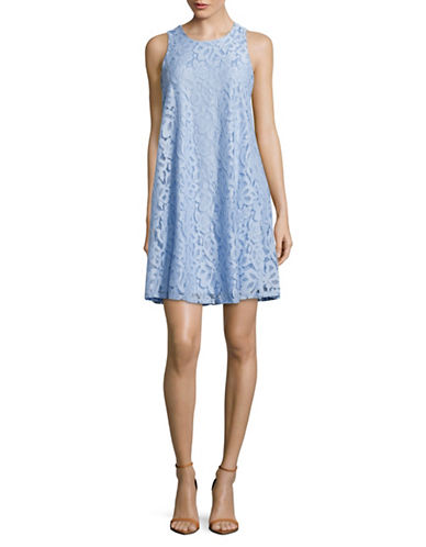 Tommy Hilfiger Lace Trapeze Dress-BLUE-6