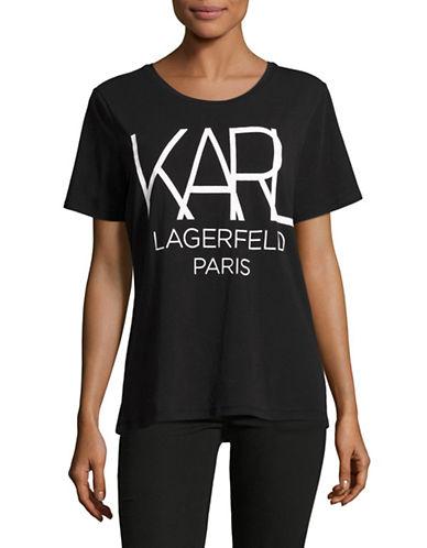 Karl Lagerfeld Big Karl Graphic T-Shirt-BLACK/WHITE-Large 88889798_BLACK/WHITE_Large