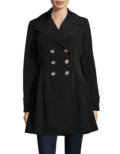 Ivanka Trump Fit-and-Flare Trench Coat-BLACK-X-Large 88930340_BLACK_X-Large