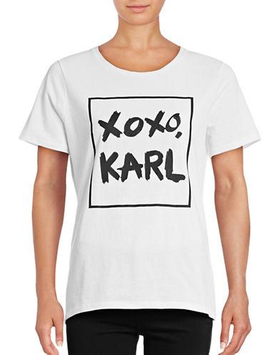 Karl Lagerfeld Paris Karl Graphic Tee-WHITE-Large 88807541_WHITE_Large