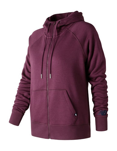 New Balance Zip-Up Fleece Hoodie-WINTER SKY-Medium