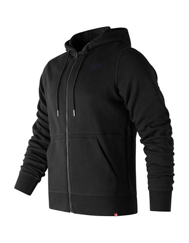 New Balance Full Zip Hoodie-BLACK-X-Large