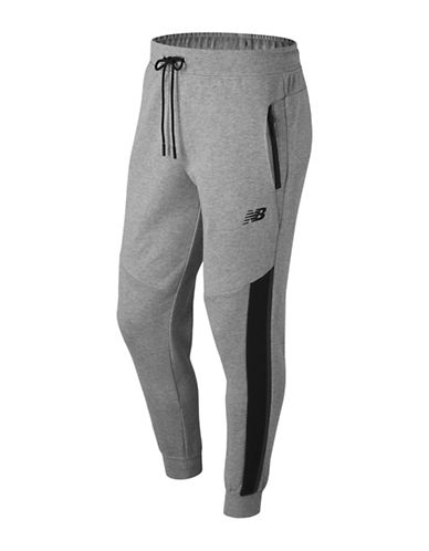 New Balance Drawstring Jogger Pants-GREY-Medium