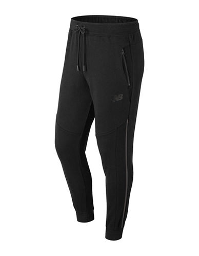 New Balance Drawstring Jogger Pants-BLACK-Medium