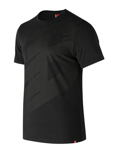 New Balance Essentials Logo Cotton T-Shirt-BLACK-Medium