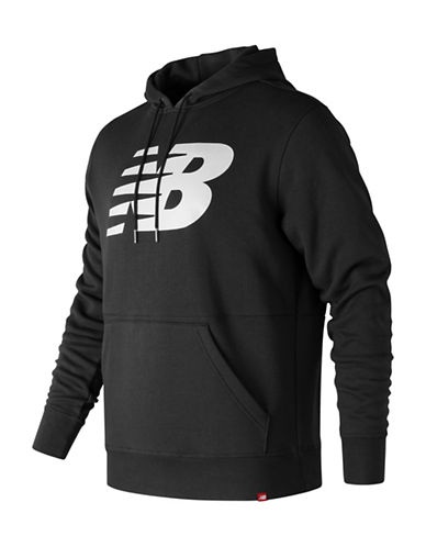 New Balance Full Zip Hoodie-BLACK-Medium