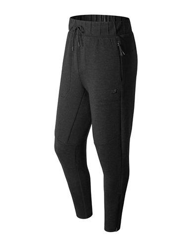 New Balance Heathered Drawstring Pants-BLACK-XX-Large
