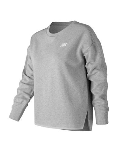New Balance Sport Crew Sweater-GREY-Large