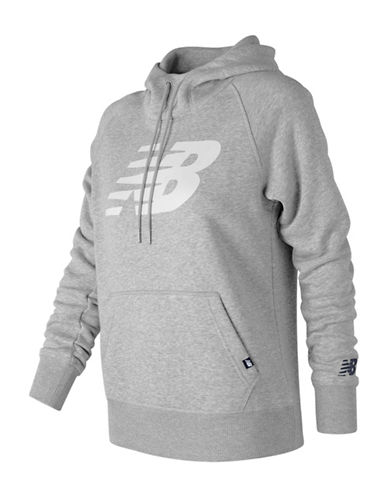 New Balance Essentials Pullover Hoodie-GREY-Medium