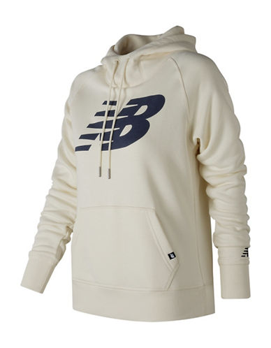 New Balance Logo Hoodie-WHITE-Large