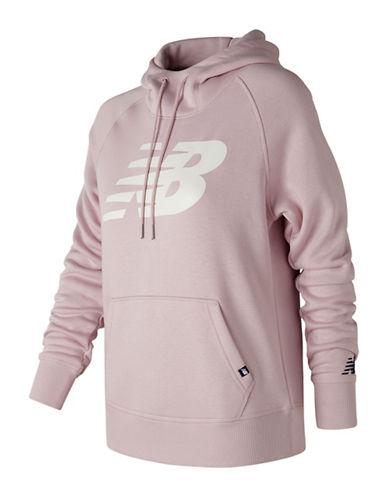 New Balance Logo Hoodie-PINK-X-Small