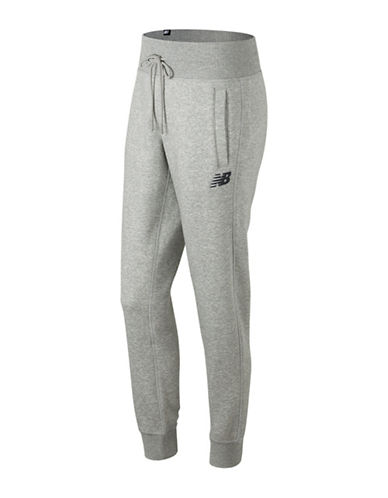 New Balance Essentials Athletic-Fit Sweatpants-GREY-Large