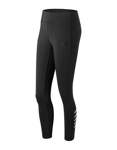 New Balance Athletic Leggings-BLACK-X-Large
