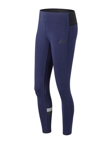 New Balance Athletic Fitted Leggings-BLUE-Medium