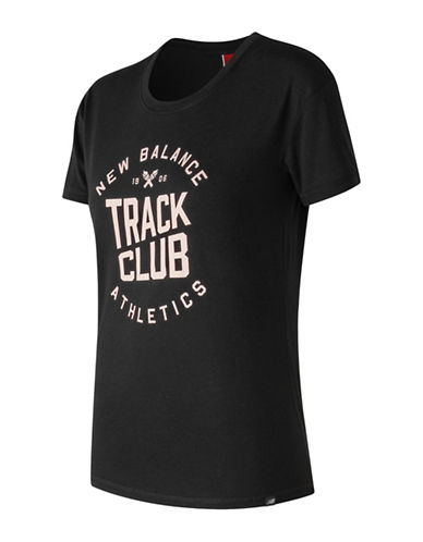 New Balance Drop Shoulder Tee-BLACK-X-Large
