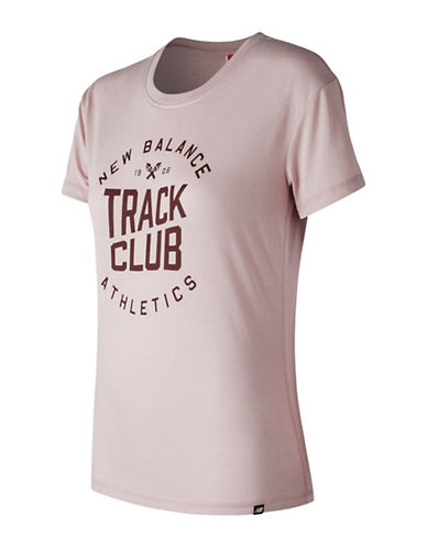New Balance Drop Shoulder Tee-PINK-Small