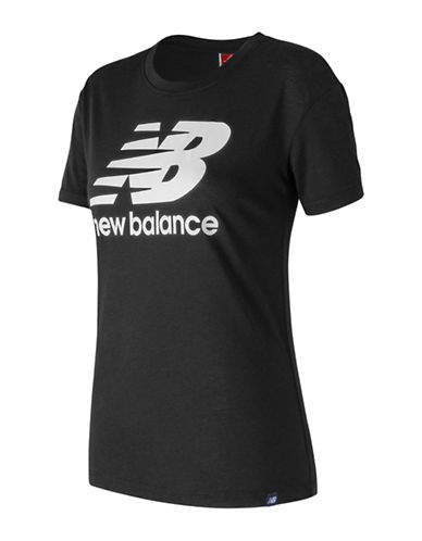 New Balance Logo Tee-BLACK-Medium
