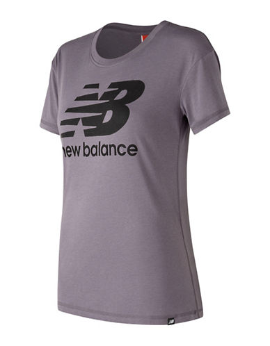 New Balance Logo Tee-GREY-X-Small