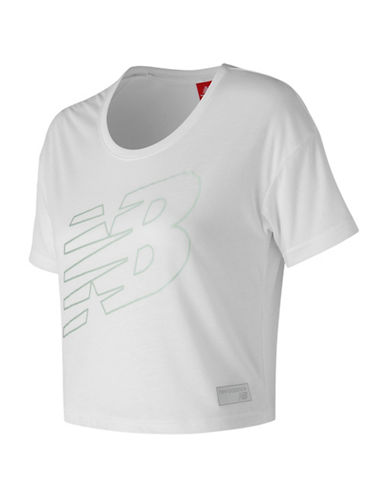 New Balance Athletic Cropped Tee-WHITE-X-Large