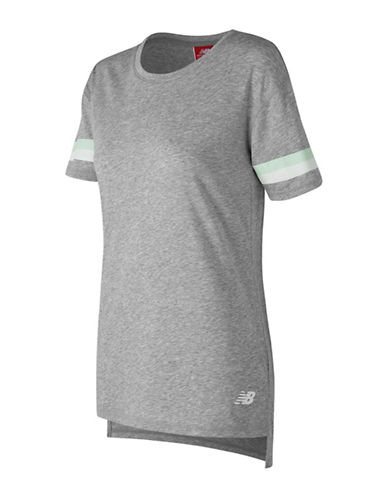 New Balance Athletics Tunic Tee-GREY-X-Small