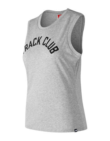 New Balance Track Club Logo Tank Top-GREY-Large