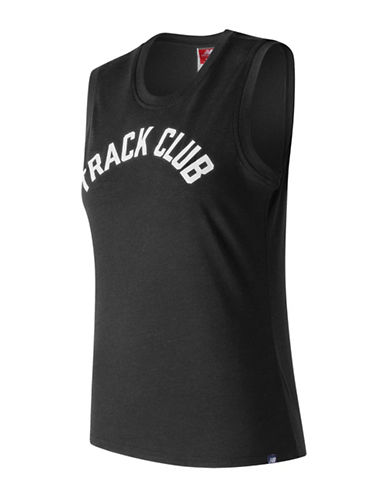 New Balance Track Club Logo Tank Top-BLACK-Large
