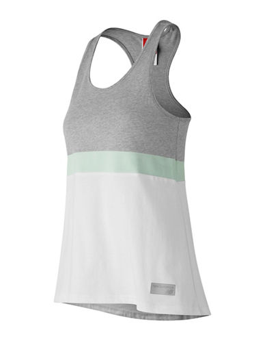 New Balance Athletic Novelty Cotton Tank Top-WHITE-X-Large