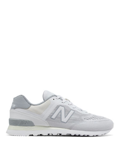 New Balance Mens Running Sneakers-WHITE-10W