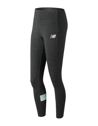 New Balance Athletic Fitted Leggings-CHARCOAL-Small