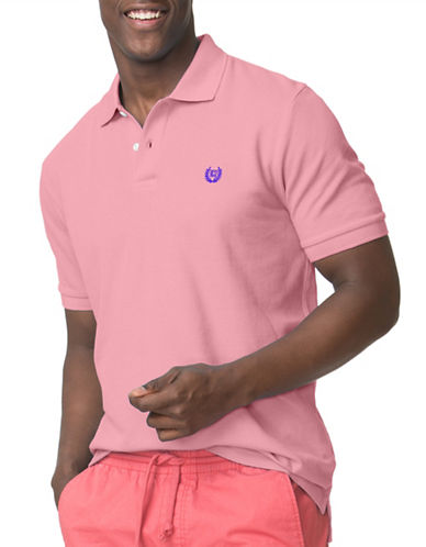 Chaps Pique Polo-PINK-Large