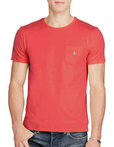 Polo Ralph Lauren Jersey Pocket Crew Neck T-Shirt-RED-Medium 88700610_RED_Medium