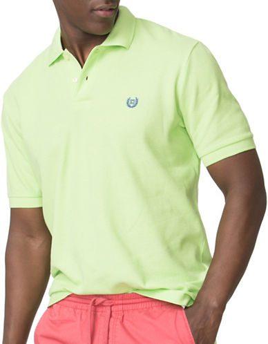 Chaps Custom-Fit Pique Polo-GREEN-X-Large