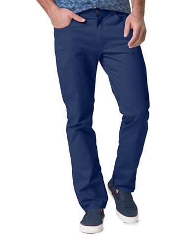 Chaps Stretch-Twill Five-Pocket Pants-BLUE-36X32