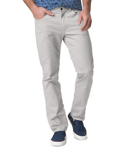 Chaps Stretch-Twill Five-Pocket Pants-GREY-40X32