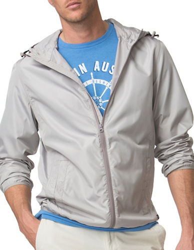 Chaps Packable Full-Zip Hooded Jacket-GREY-X-Large