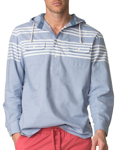Chaps Striped Oxford Hoodie-BLUE-Small 88887993_BLUE_Small