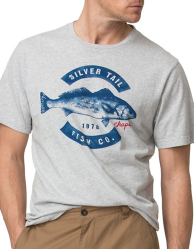 Chaps Fishing Graphic T-Shirt-GREY-X-Large 88888012_GREY_X-Large