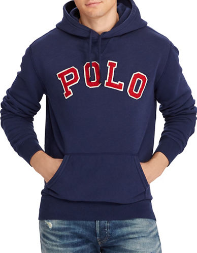 Polo Ralph Lauren Sporty Fleece Hoodie-NAVY-XX-Large
