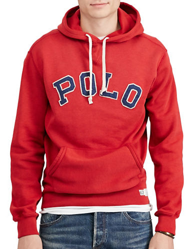 Polo Ralph Lauren Sporty Fleece Hoodie-RED-X-Large