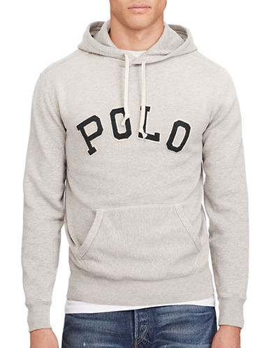Polo Ralph Lauren Sporty Fleece Hoodie-GREY-Large