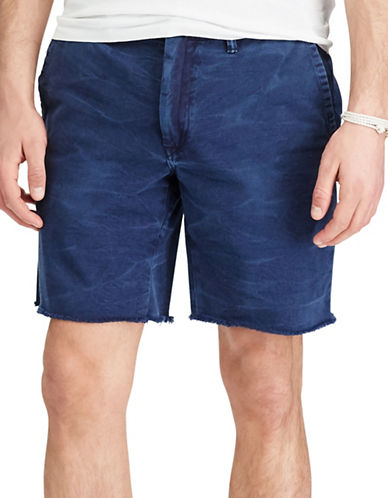 Polo Ralph Lauren Straight-Fit Cut-Off Chino Shorts-NAVY-36