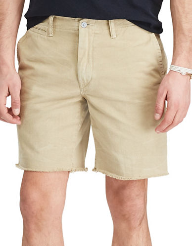 Polo Ralph Lauren Straight-Fit Cut-Off Chino Shorts-BEIGE-32