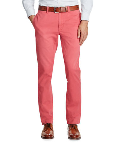 Polo Ralph Lauren Slim-Fit Cotton Chino Pants-RED-36X30